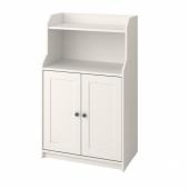 ХАУГА Шкаф с 2 дверьми, белый, 70x116 см