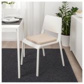 ХИЛЛАРЕД Подушка на стул, бежевый, 36x36x3.0 см