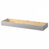 ХАВСТА Цоколь, серый, 121x12x37 см