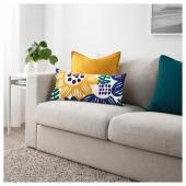 СОММАРАСТЕР Подушка, белый, разноцветный, 30x60 см