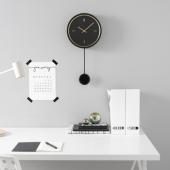 СТУРСК Настенные часы, черный, 26 см