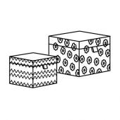 АНИЛИНАРЕ Декоративная коробочка, 2 шт., белый, синий