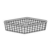 ЙОНАКСЕЛЬ Проволочная корзина, белый, 50x51x15 см