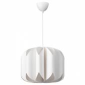 МОЙНА Абажур для подвесн светильника, текстиль, белый, 47 см