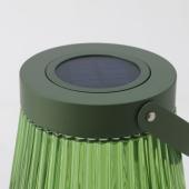 СОЛВИДЕН Напольн светодиод светильник/слн бт, для сада, стекло зеленый, 42 см