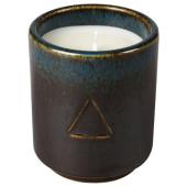 ОСИНЛИГ Ароматическая свеча в стакане, Табак и мед, черный синий, 7 см