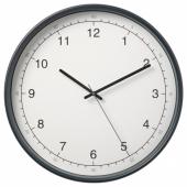ТАГГАД Настенные часы, белый/серый, 38 см