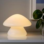 ХЁСТФЕСТ Декоративная подсветка, светодиоды, с батарейным питанием д/дома/улицы, гриб белый, 20 см