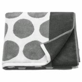 СЬЁВАЛЛА Банное полотенце, антрацит, белый, 70x140 см