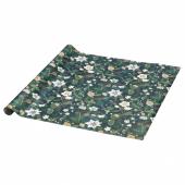 ВИНТЕР 2020 Рулон оберточной бумаги, орнамент «рождественская роза» зеленый, 3x0.7 м
