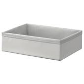 БАКСНА Органайзер, серый, белый, 26x34x10 см
