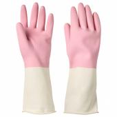 РИННИГ Хозяйственные перчатки, розовый, S