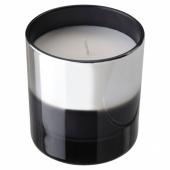 ХОПФОГА Ароматическая свеча в стакане, Специи и цветы, серый, 9.5 см