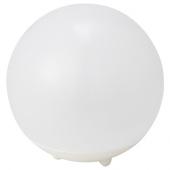 СОЛВИДЕН Светильник на солнечной батарее, для сада, шаровидный белый
