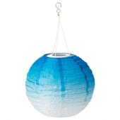 СОЛВИДЕН Подвесная светодиодная лампа, для сада, шаровидный синеватый оттенок, 30 см