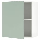 КНОКСХУЛЬТ Навесной шкаф с дверцей, серо-зеленый, 60x75 см