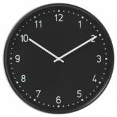 БУНДИС Настенные часы, черный