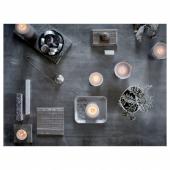 СИНЛИГ Ароматическая свеча в стакане, Мускатный орех и ваниль, серый, 7.5 см