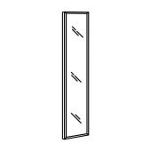 НИССЕДАЛЬ Зеркало, черный, 40x150 см