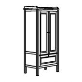 СУНДВИК Шкаф платяной, белый, 80x50x171 см