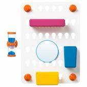 ЛОДДАН Панель с аксессуарами,6предм., с присосками, разные цвета разные цвета