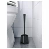 БОЛЬМЕН Щетка для туалета/держатель, черный