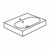 БРОВИКЕН Одинарная раковина, белый, 61x49x10 см