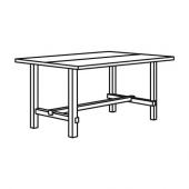 НОРДВИКЕН Раздвижной стол, черный, 152/223x95 см