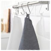 ТРОЛЛЬПИЛ Полотенце кухонное, белый, черный, 50x70 см