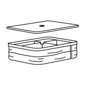 РАБЛА Коробка с отделениями, 25x35x10 см