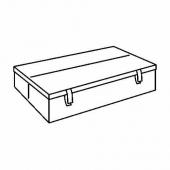 ЛИКСЕЛЕ Ящик для 2-мест дивана-кровати, черный