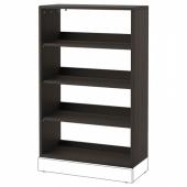 ХАВСТА Стеллаж, темно-коричневый, 81x123x35 см