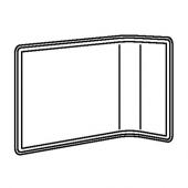 БЕКАНТ Экран д/письменного стола, серый, 55 см