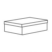 ТЬЕНА Коробка с крышкой, белый, 25x35x10 см
