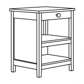 ТОРНВИКЕН Кухонн стол-остров, белый с оттенком, дуб, 72x52 см