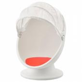 ИКЕА ПС ЛЁМСК Вращающееся кресло, белый, красный