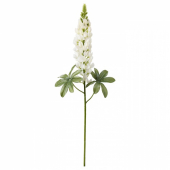 СМИККА Цветок искусственный, Люпин, белый, 74 см