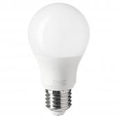 ТРОДФРИ Светодиод E27 806 лм, беспроводное регулирование теплый белый, шаровидный молочный