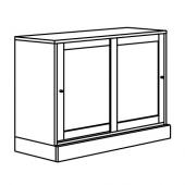 ХАВСТА Шкаф с цоколем, серый, 121x89x47 см