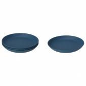 ТАЛЬРИКА Тарелка десертная, темно-синий, 19 см