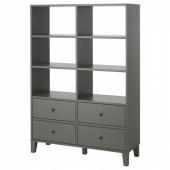 БРЮГГИА Модуль для хранения, темно-серый, 120x173 см