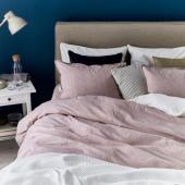 БЕРГПАЛМ Пододеяльник и 2 наволочки, розовый, полоска, 200x200/50x70 см