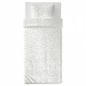 МЁЙЛИГХЕТ Пододеяльник и 1 наволочка, белый, мозаичный орнамент, 150x200/50x70 см