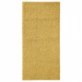 АЛЛЕРСЛЕВ Ковер, длинный ворс, желто-коричневый, 57x120 см
