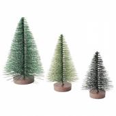 ВИНТЕРФЕСТ Набор украшений, 3шт, рождественская елка, зеленый