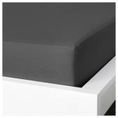 НАТТЭСМИН Простыня натяжная, темно-серый, 180x200 см