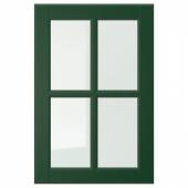 БУДБИН Стеклянная дверь, темно-зеленый, 40x60 см