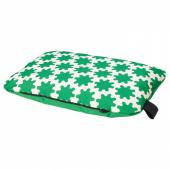 ЛУРВИГ Подушка, зеленый, белый, 30x48 см