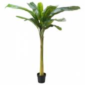 ФЕЙКА Искусственное растение в горшке, д/дома/улицы Банан, 21 см