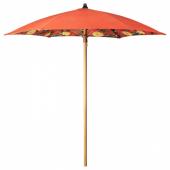 СОЛБЛЕКТ Зонт от солнца, цветочный орнамент оранжевый, 185 см